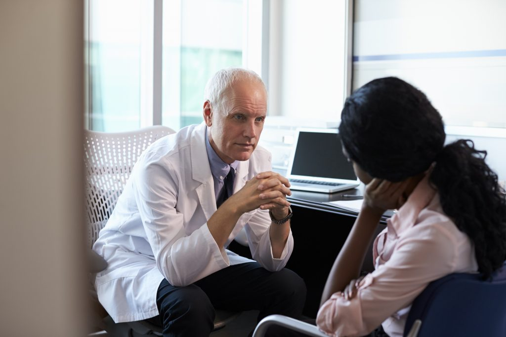 Doctor in consultation hormone imbalance